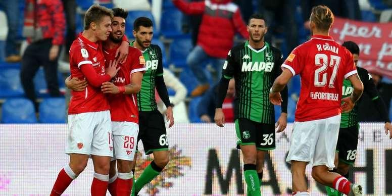 Sassuolo-Perugia 1-2: Sorpresa al Mapei, gli umbri raggiungono il Napoli agli ottavi. Goal