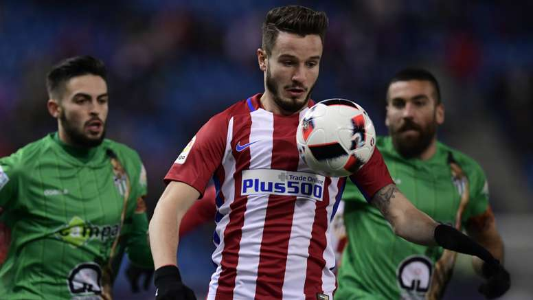 Saul in action for Atletico Madrid. Goal