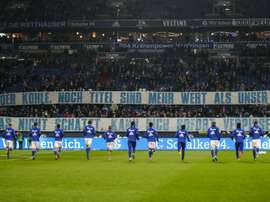 Schalke fans had made banners before the game against Hannover about Goretzka. Goal