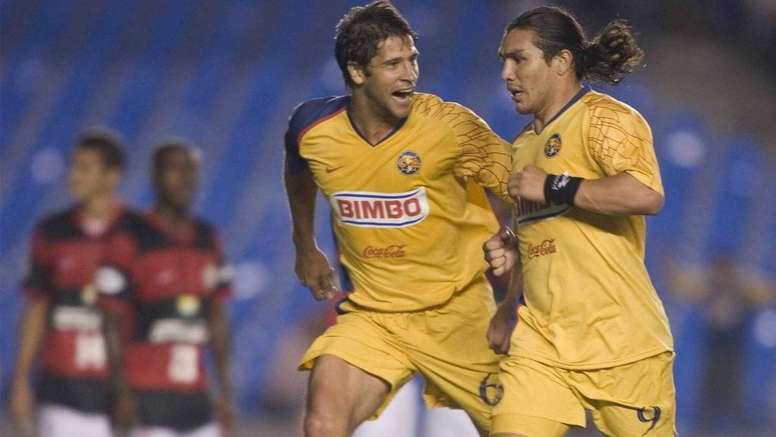 Sebastian Dominguez Salvador Cabañas America v Flamengo Copa Libertadores. Goal