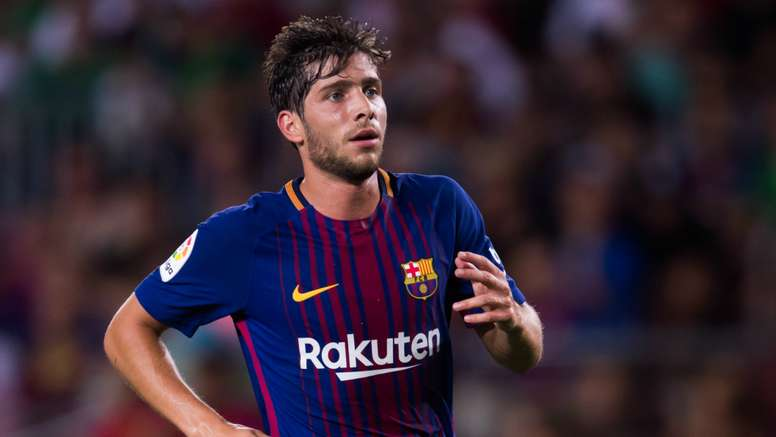 Sergi Roberto suffered a hamstring injury against Olympiacos on Tuesday night. GOAL