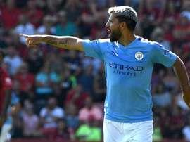 Agüero voit double pour City. AFP