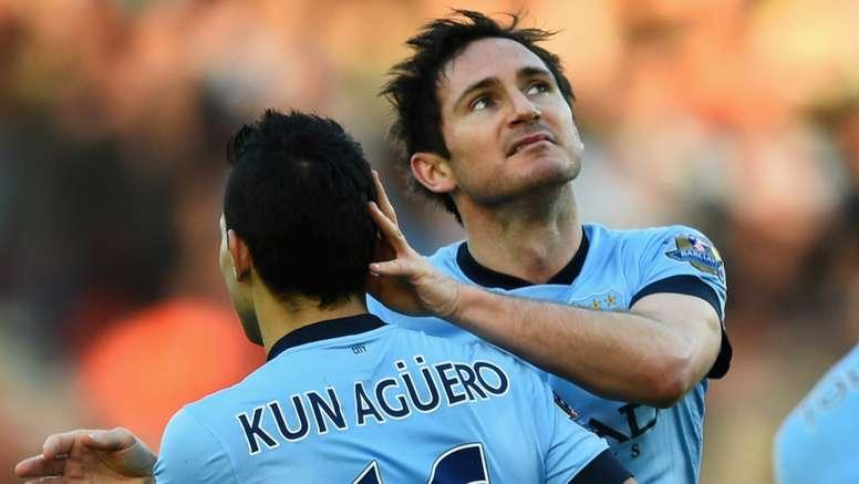 Sergio Aguero Frank Lampard Manchester City