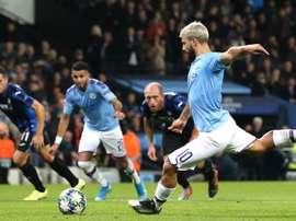 La punta argentina del City, il 'Kun' Agüero. Goal