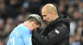 Guardiola says Aguero could be out for a while. GOAL