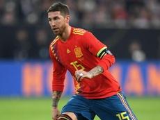 Ramos earnt his 150th cap for Spain. GOAL