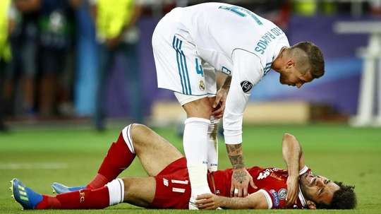 Ramos injured Salah in a tackle early on in the game. Many said it was intentional. Goal