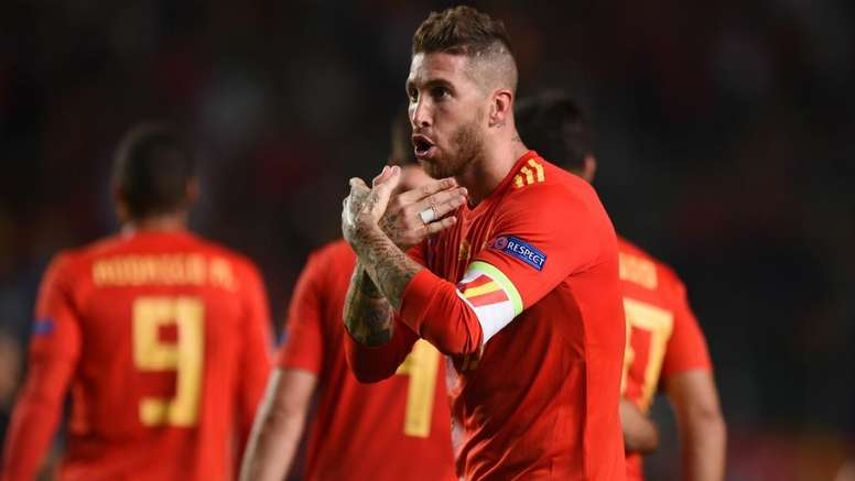 Spain captain Sergio Ramos is among several Real players in the Spain squad. GOAL