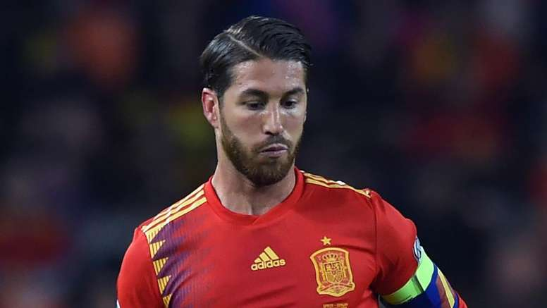 Sergio Ramos scored once again for Spain. GOAL