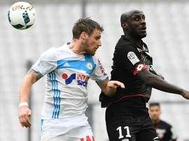 Sertic lors d'un match Marseille en Ligue 1. GOAL