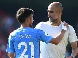 Guardiola lauds Silva as 'one of the best I've seen' after reaching Man City milestone. goal