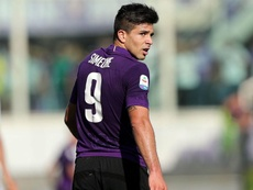 Giovanni Simeone hopes to be managed by his father Diego. GOAL