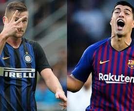 Skriniar Suarez Inter Barcelona. Goal