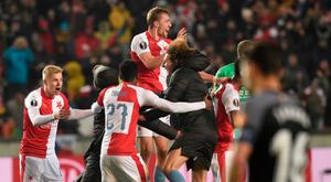 Sevilla crash out of Europa League after remarkable Slavia Prague comeback. Goal