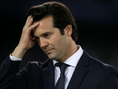 Solari was bemused as to how Real Madrid were not awarded a 'textbook' penalty. GOAL