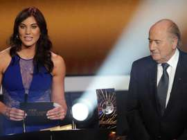 Solo accused Blatter of sexually assaulting her at the Ballon d'Or awards ceremony in 2013. AFP