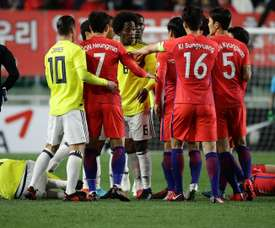 South Korea's impressive 2-1 victory was overshadowed by a racist incident. AFP