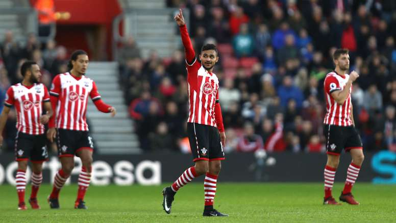 Sofiane Boufal has scored his first Premier League today. Goal