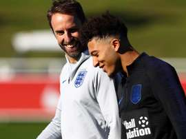 Jadon Sancho received his first England call-up last week. GOAL