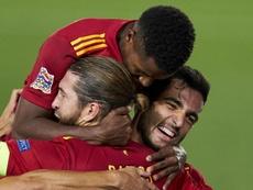 Ansu Fati scored as Spain won 4-0 against Ukraine in Madrid. GOAL