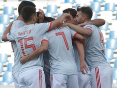 Spain grabbed a crucial win late on v Belgium. GOAL