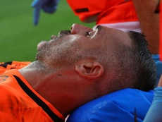 Sorrentino was injured in a collision with Ronaldo. GOAL