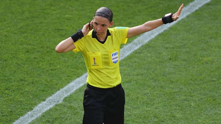 Stephanie Frappart will be the first female to officiate a major UEFA men's game. GOAL