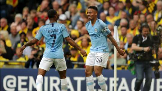 City's second goal has been credited to Gabriel Jesus. GOAL
