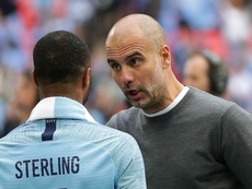 Sterling can reach same level as Messi and Ronaldo, says Man City boss Guardiola.