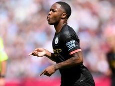 Raheem Sterling netted a hat-trick in Man City's 0-5 win at West Ham. GOAL