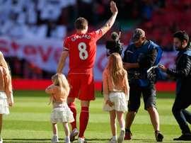 Steven Gerrard, la star anglaise et joueur du Liverpool. AFP