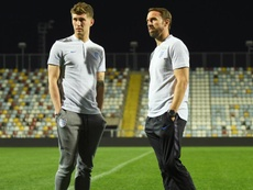 Stones and Southgate pictured in Croatia. GOAL