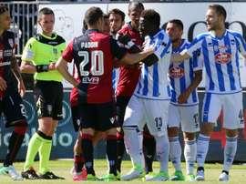 Sulley Muntari lors du match de Serie A Cagliari-Pescara. AFP