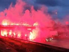 Les supporters rennais mettent une ambiance de dingue avant Rennes-Krasnodar. Goal
