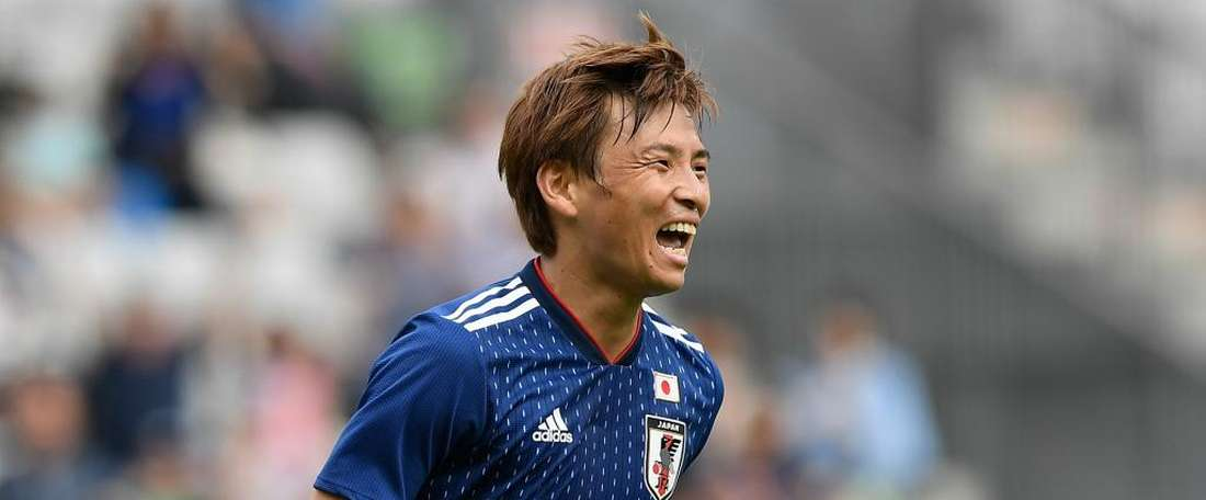 Unui scored a brace for Japan in the friendly. GOAL