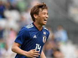 Unui scored a brace for Japan in the friendly. GOAL