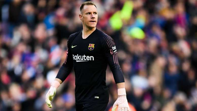 Marc-Andre Ter Stegen may miss the Copa Del Rey final. GOAL