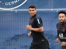 Thiago Silva confiant avant la confrontation contre Saint-Etienne. AFP