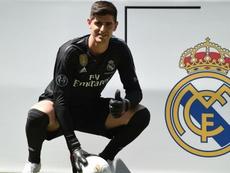 Courtois left Chelsea for Real Madrid in August. GOAL