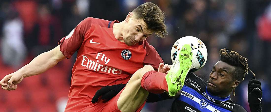 Thomas Meunir et Allan Saint-Maximin, PSG-Bastia, Ligue 1. GOAL