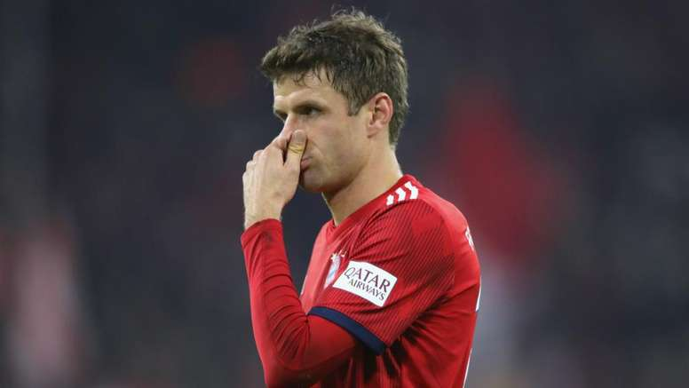 Muller could miss Bayern's last-16 clash as a result of his red card. GOAL