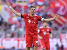 Muller's Bayern hold a four point lead at the top of the Bundesliga. GOAL