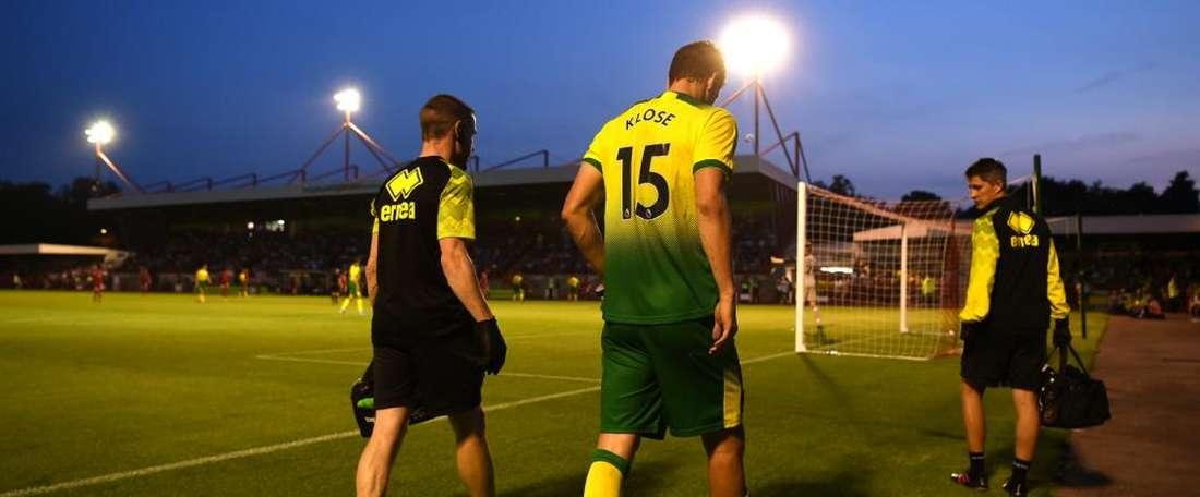 Norwich dealt triple injury blow as Klose faces long lay-off. GOAL