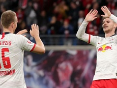 Leipzig hit eight, go above Bayern. GOAL