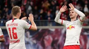 Leipzig hit eight, go above Bayern. GOAL