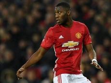 Timothy Fosu-Mensah, joueur de Manchester United. AFP