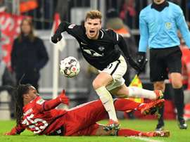 Leipzig striker Werner fails to hide Bayern interest.