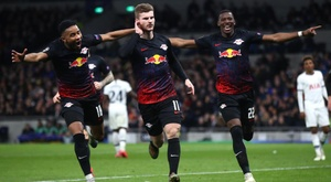 Timo Werner (C) was very happy to be linked with the current Champions League winners. GOAL