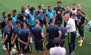 Tite jogadores Brasil treino Nova Jersey. AFP