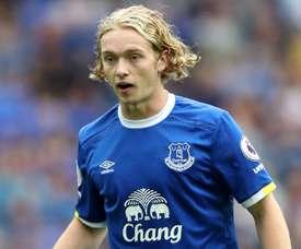Tom Davies sous les couleurs d'Everton. Goal